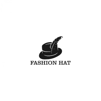 Logo de chapeau, logo de fasion