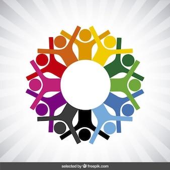 Logo de la charité avec des icônes humains