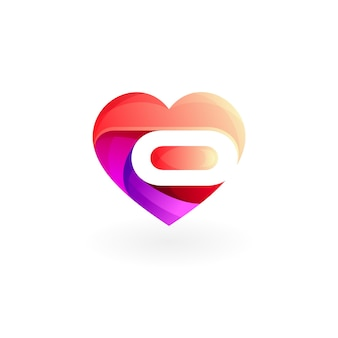 Logo de charité avec vecteur de design coloré, logos sociaux