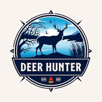 Logo de chasse au cerf