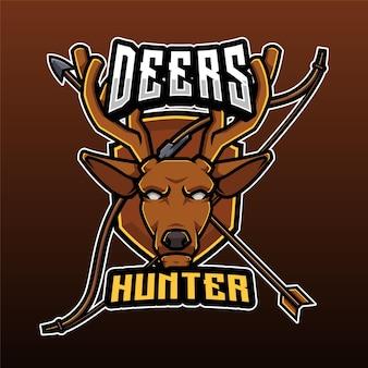 Logo de chasseur de cerfs
