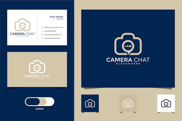 Logo de chat caméra et carte de visite