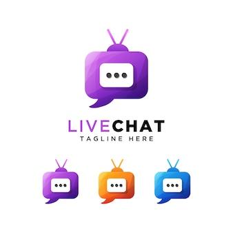 Logo de chat en direct ou chat en direct