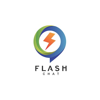 Logo de chat flash