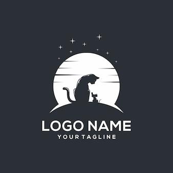 Logo chat et souris