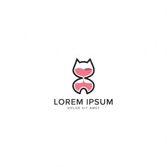 Logo de chatons de sablier