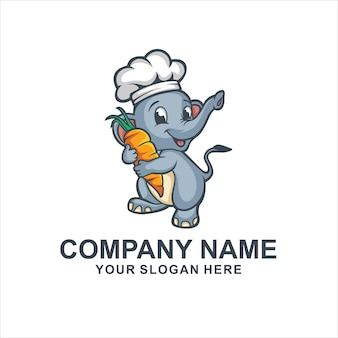 Logo de chef élépant