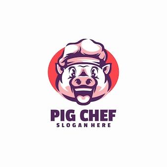 Logo de chef de porc