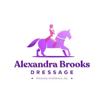 Logo de cheval de dressage