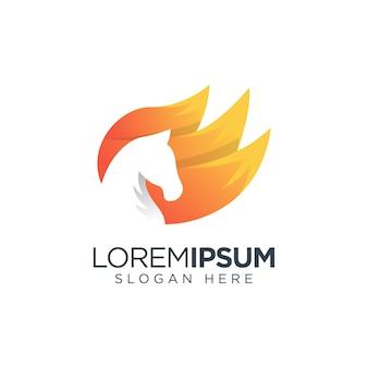 Logo cheval de feu