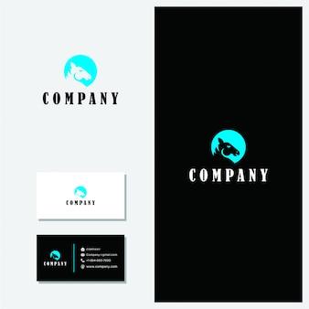 Logo de cheval premium vector minimaliste