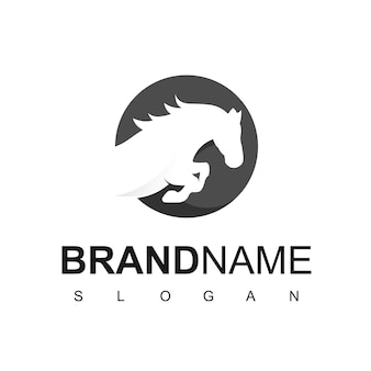 Logo cheval, rapide, fort, symbole animal
