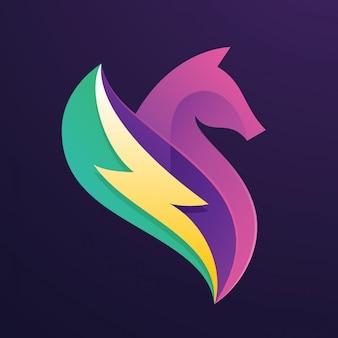 Logo de cheval de tonnerre