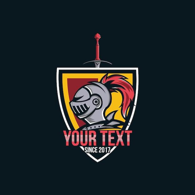 Logo de chevalier, guerrier de tête de chevalier pour le logo de joueur d'esports