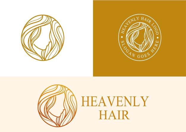 Logo de cheveux céleste