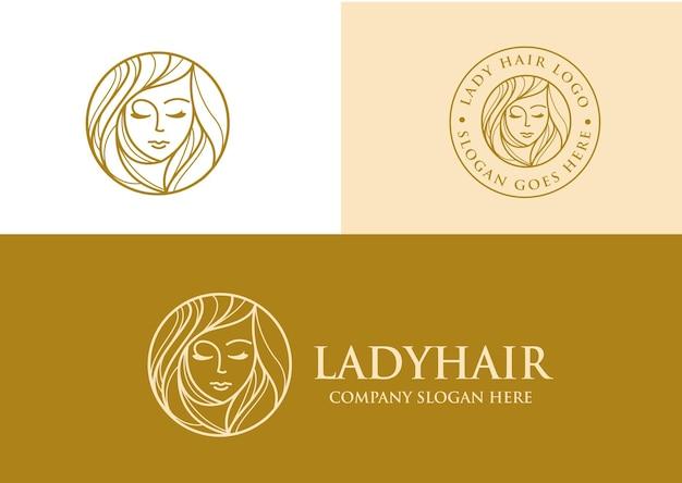 Logo de cheveux de dame