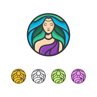 Logo de cheveux frais