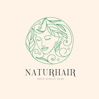 Logo de cheveux naturels