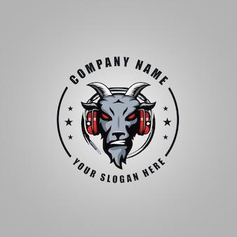 Logo de chèvre en colère
