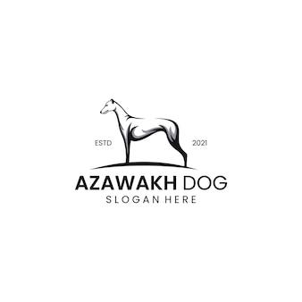 Logo de chien azawakh