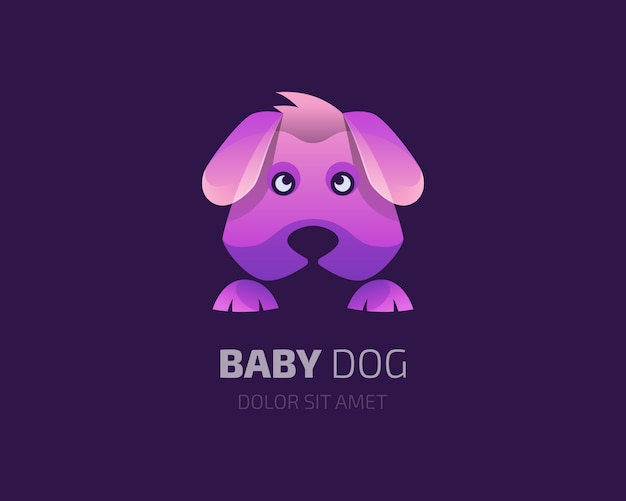 Logo de chien bébé coloré
