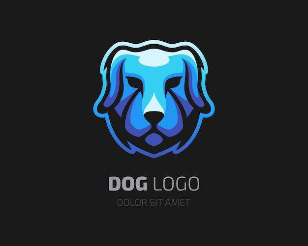 Logo de chien bleu