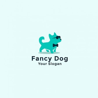 Logo de chien de fantaisie