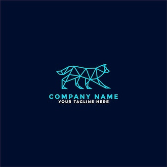 Logo chien lowpoly