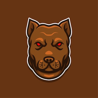 Logo de chiens yeux rouges