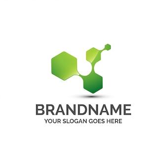 Logo chimique abstrait