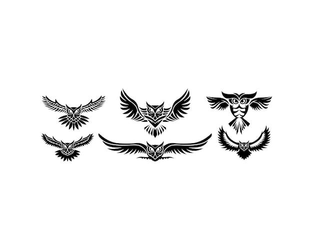 Logo de la chouette - illustration vectorielle