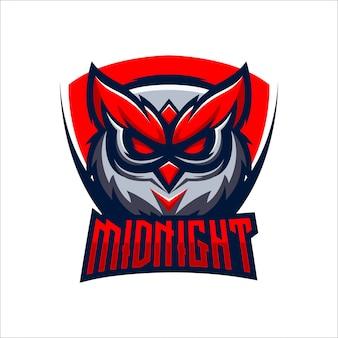 Logo de chouette de minuit