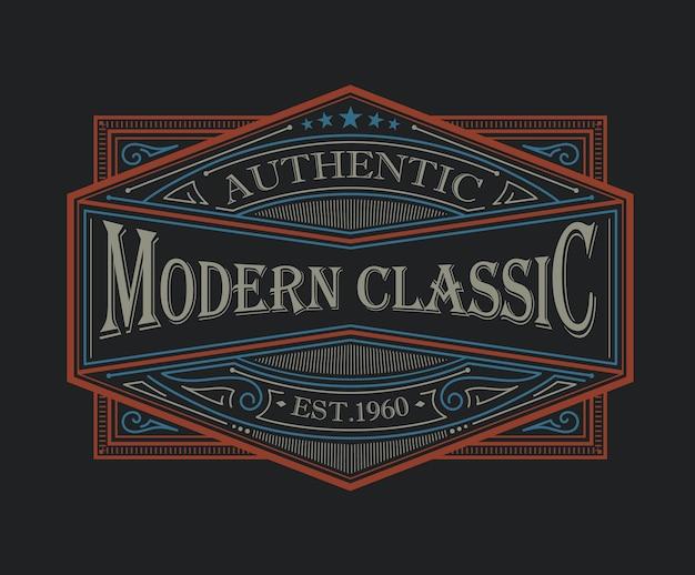 Logo classique moderne sur le thème antique