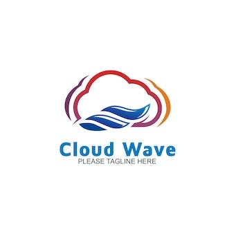 Logo cloud wave