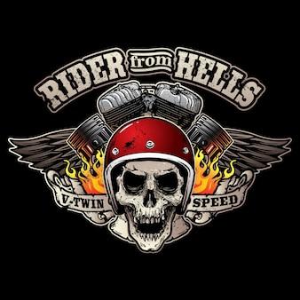 Logo de club de moto vintage
