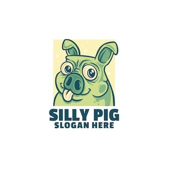Logo de cochon idiot
