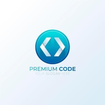 Logo de code dégradé créatif