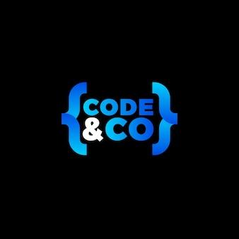 Logo de code dégradé