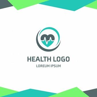Logo coeur ecg santé