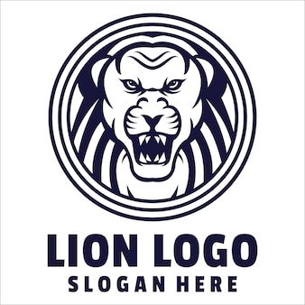 Logo en colère de lion