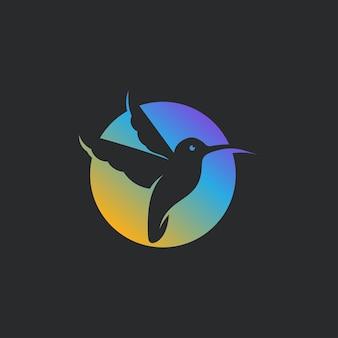 Logo colibri moderne simple