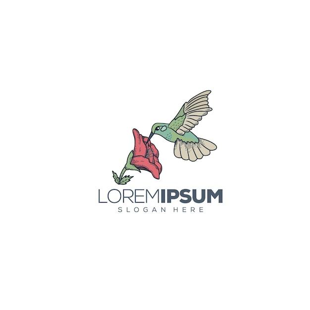 Logo avec colibri