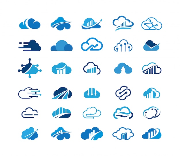 Logo collection cloud logo