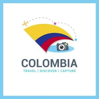 Logo colombie drapeau voyage