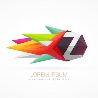 Logo coloré abstrait avec la lettre z