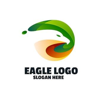 Logo coloré d'aigle