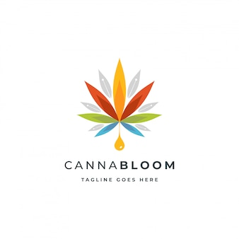 Logo coloré de cannabis ou de chanvre