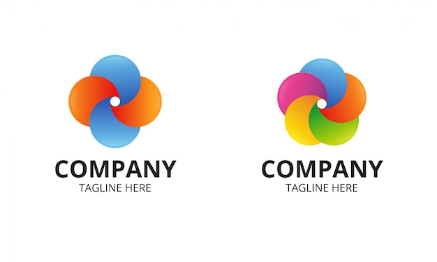 Logo coloré de cercle abstrait