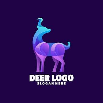 Logo coloré de cerf