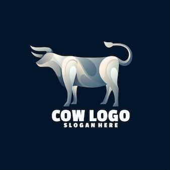 Logo coloré de dégradé de vache